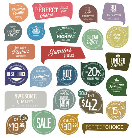 vector ornaments: Modern badges