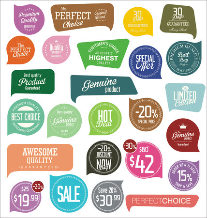 label design: Modern badges