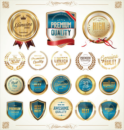 circular: Quality golden badges and labels collection