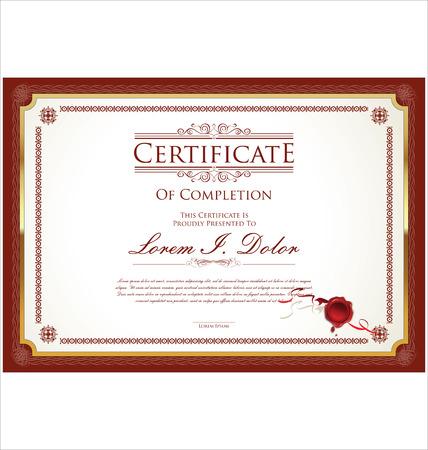 premios: Certificado, Diploma de finalización Vectores