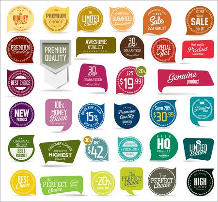 Premie, kwaliteit moderne labels verzameling