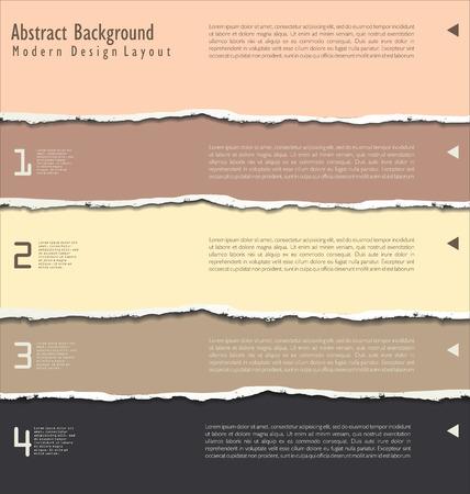 craft paper: torn paper vector Illustration