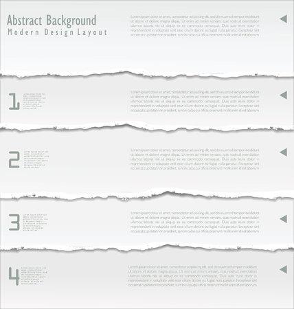 Zerrissenes Papier Vektor- Standard-Bild - 45890175