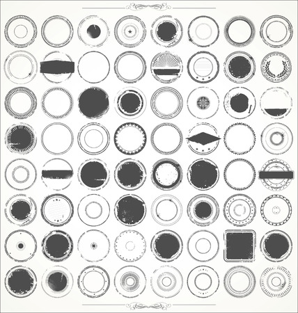 grunge frame: Grunge rubber stamp collection
