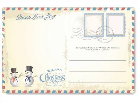 postcard: Postal de la Navidad de la vendimia