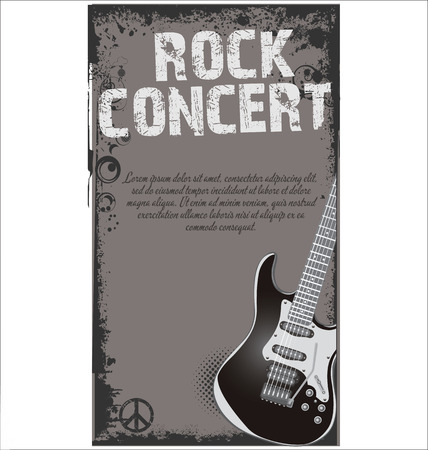 grunge music background: Music concert poster