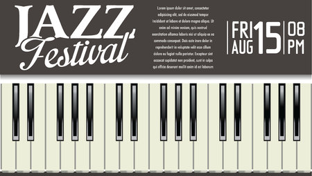old keys: Jazz festival background Illustration