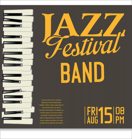 old piano: Jazz festival background Illustration