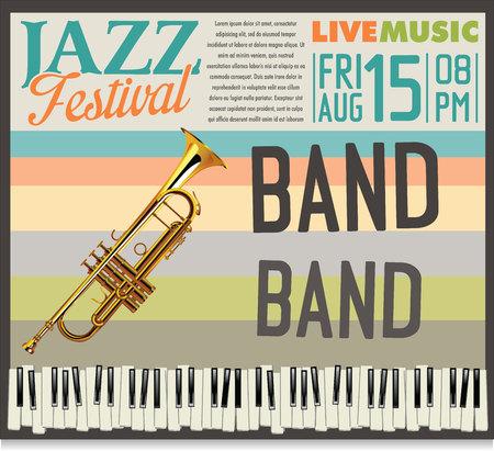 jazz modern: Jazz festival background Illustration