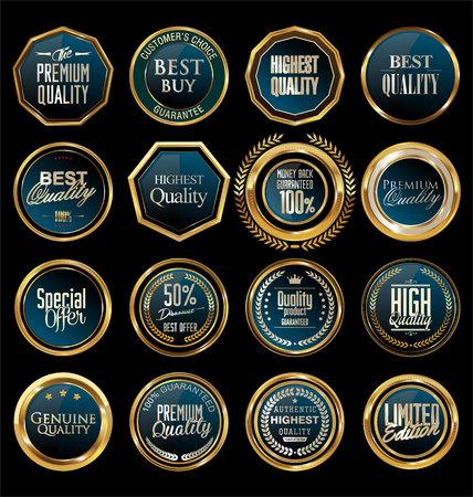 shield set: Golden badge collection