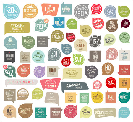 sale tags: Badges and labels collection