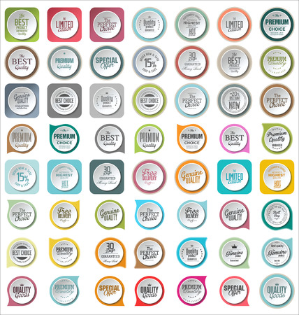 modern badges collection Vectores