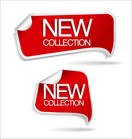 sticker vector: New collection sticker