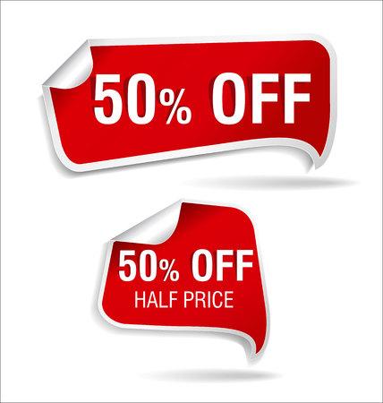 half: Half price sticker