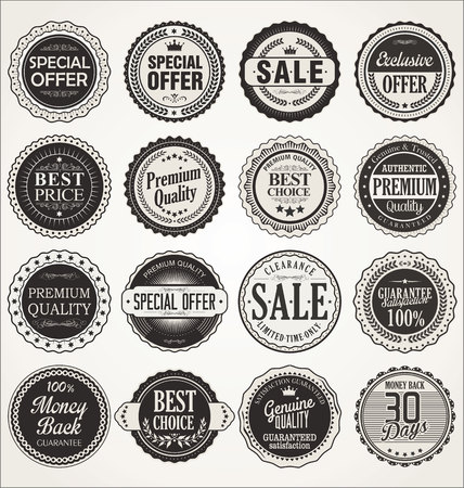label design: Premium, quality retro vintage labels collection