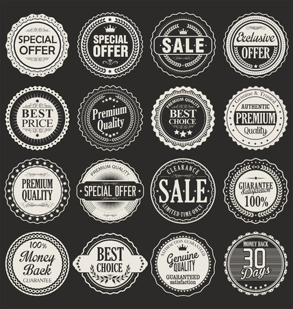 Premium, quality retro vintage labels collection Stok Fotoğraf - 46529711