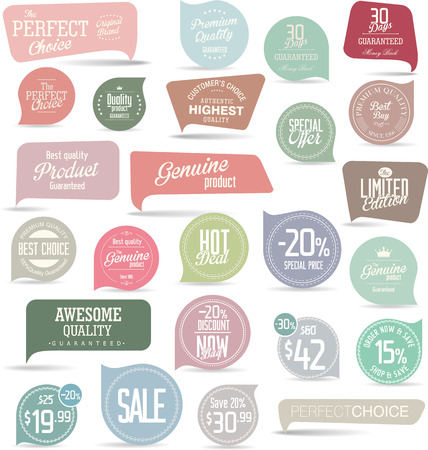 labels: Sale Labels collection Illustration