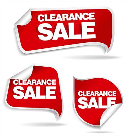 Clearance sale labels