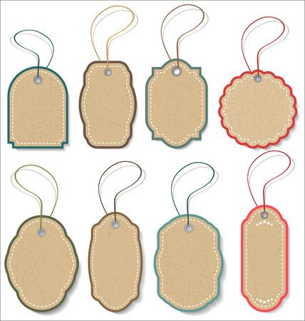 Tag étiquette vecteur vintage Banque d'images - 46529759