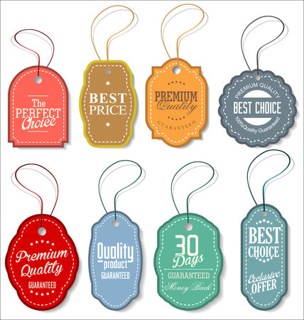 paper tag: Tag vintage label vector