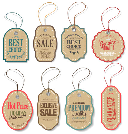 announcement: Vintage Style Sale Tags Design