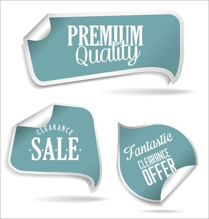 attention: Modern style blue sale stickers