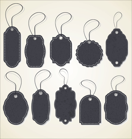 Vintage Style empty Tags Design Imagens - 47169543