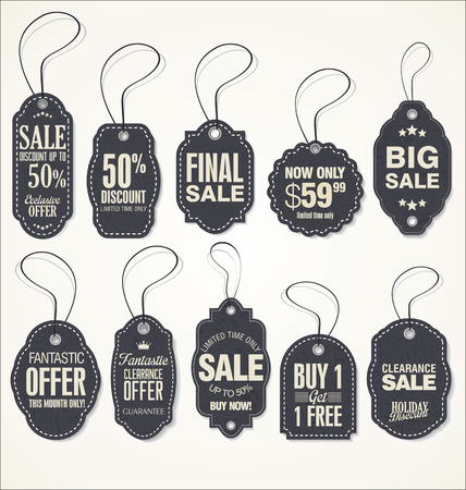 sale tags: Vintage Style Sale Tags Design