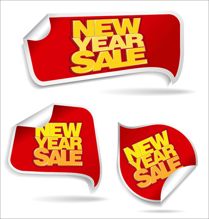 last year: New Year sale price tag