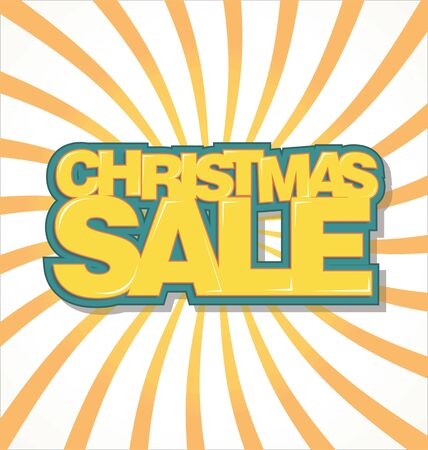 last year: Christmas sale text on retro background