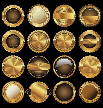 Leeg luxe gouden etiketten collectie Stock Illustratie