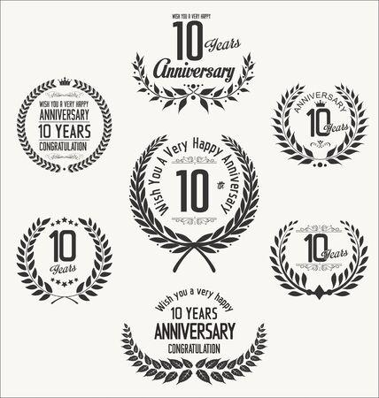 ten years jubilee: Anniversary laurel wreath Illustration