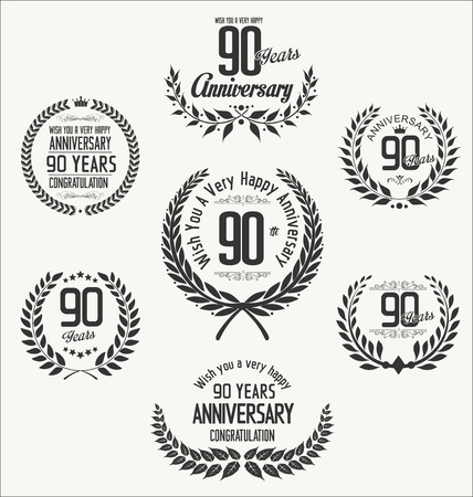 90 years: Anniversary laurel wreath Illustration