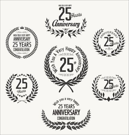 25 years old: Anniversary laurel wreath Illustration