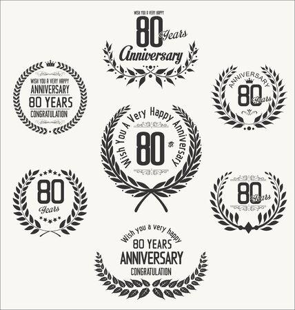 80 year old: Anniversary laurel wreath Illustration