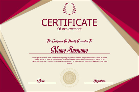 official: Certificate or diploma template