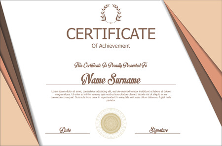 diploma: Certificado o diploma de plantilla