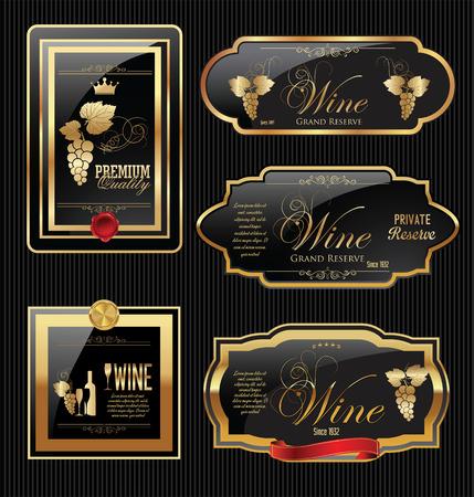 vinho: Coleta de etiqueta do vinho de Ouro