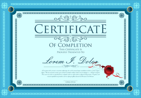 Certificate, Diploma of completion