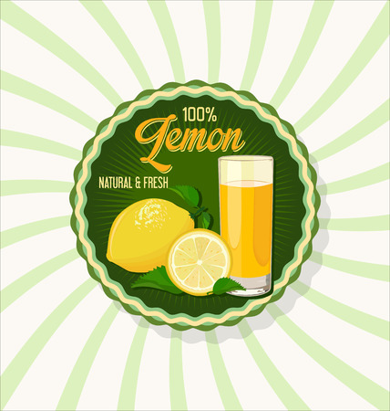 tubule: Glass of lemon juice with fruit background