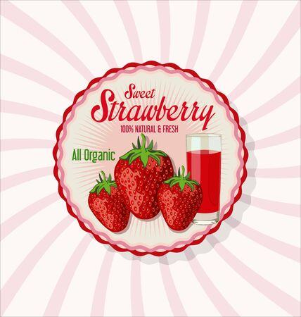 sappy: Fresh strawberry and juice glass background