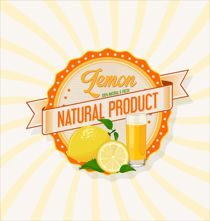 juice: Glass of lemon juice with fruit background