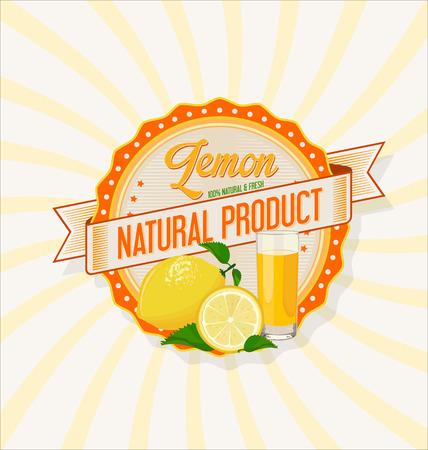 fruit juice: Glass of lemon juice with fruit background