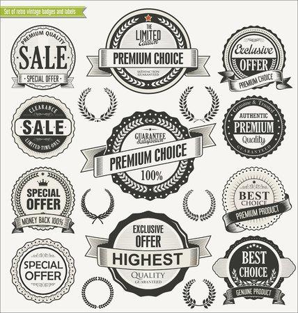 Retro badges collection Illustration