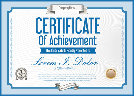 bank notes: Vector certificate template