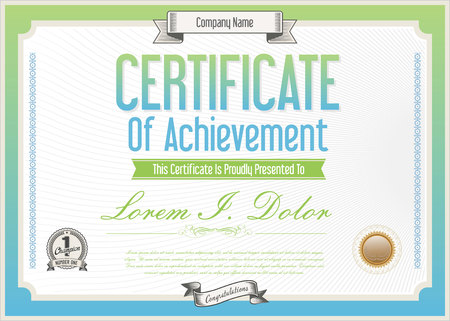 certificate template: Vector certificate template