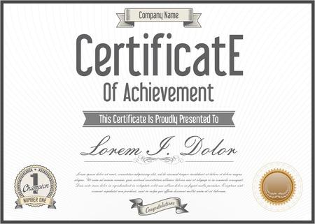 diploma: Vector certificate template