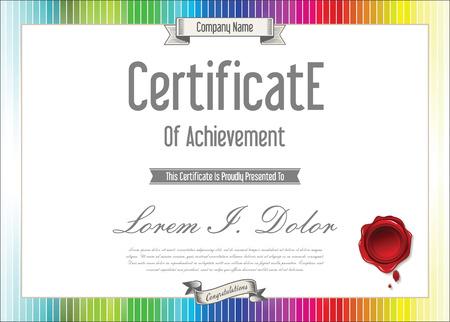 diploma: Certificate or diploma template