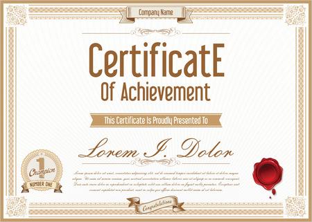 certificate template: Certificate or diploma template