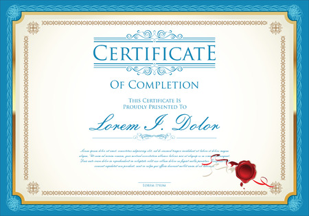 intricacy: Certificate or diploma template